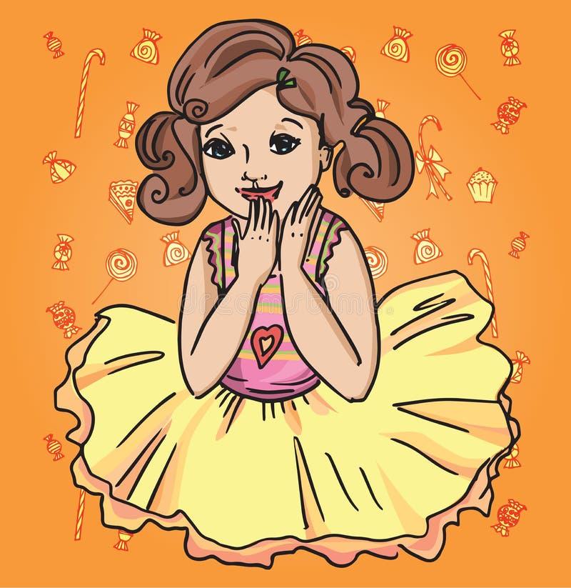 Χαρούμενο κορίτσι σε μια φούστα στοκ φωτογραφίες με δικαίωμα ελεύθερης χρήσης