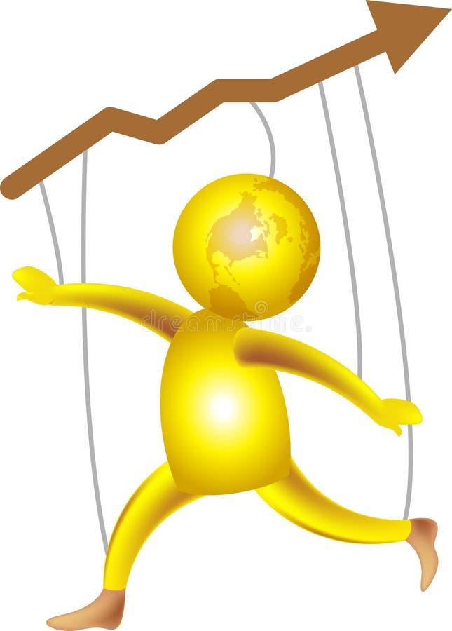 χαρούμενο μερίδιο αγορά&sigm ελεύθερη απεικόνιση δικαιώματος