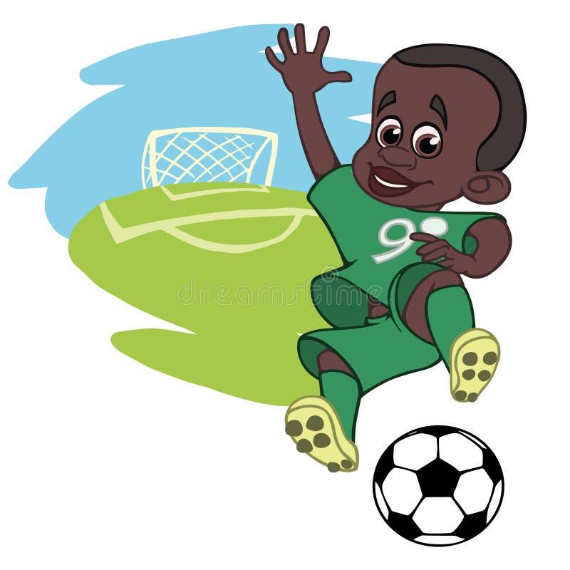 Χαρούμενο παίζοντας ποδόσφαιρο αγοριών στοκ εικόνα