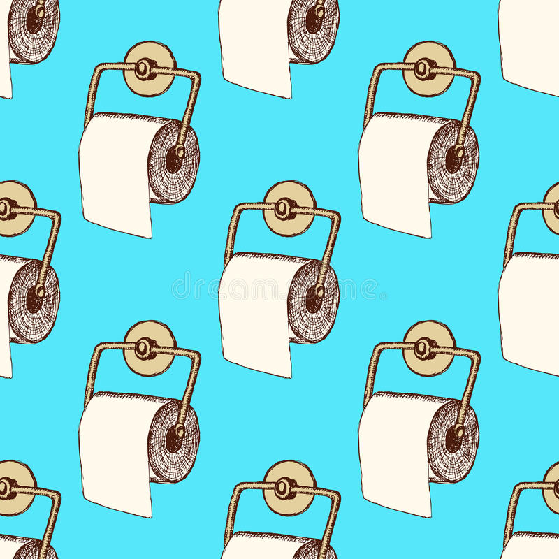 Χαρτί τουαλέτας σκίτσων στο εκλεκτής ποιότητας ύφος ελεύθερη απεικόνιση δικαιώματος