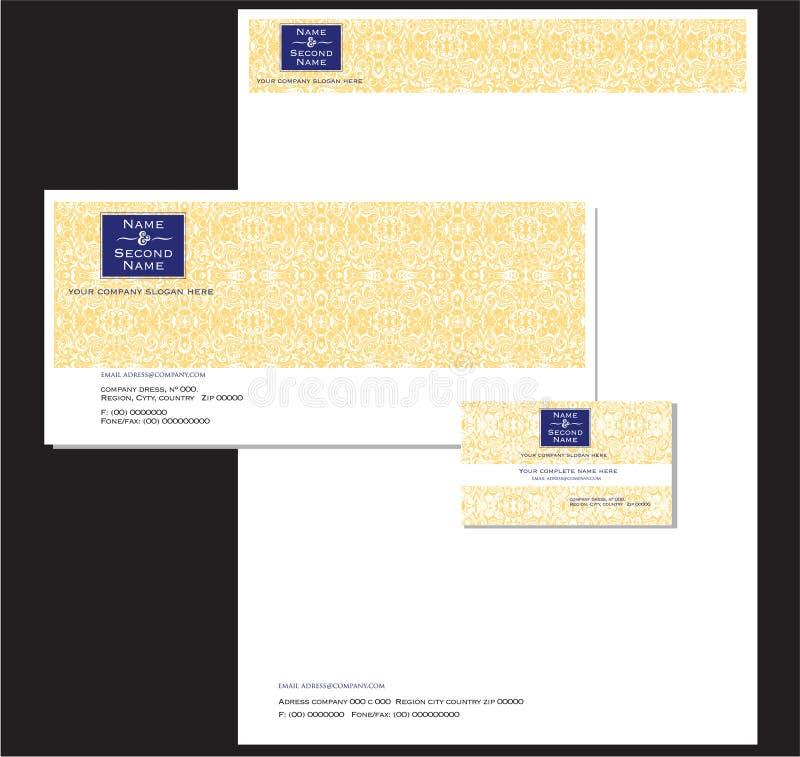 Χαρτικά και κάρτα επιχείρησης ελεύθερη απεικόνιση δικαιώματος