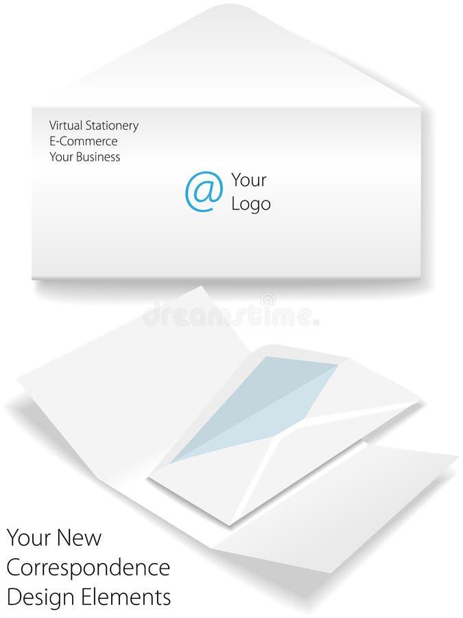 χαρτικά λογότυπων επιστ&omicro απεικόνιση αποθεμάτων