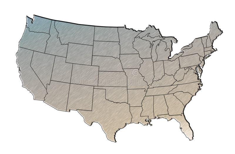 χαρτογραφήστε τα κράτη πο&u ελεύθερη απεικόνιση δικαιώματος