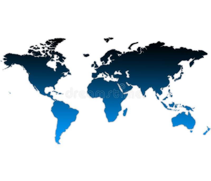 χαρτογραφήστε τον κόσμο διανυσματική απεικόνιση
