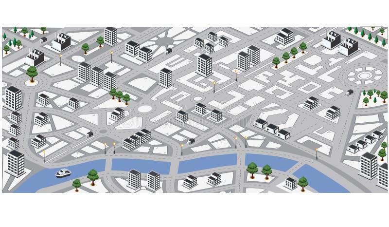 χαρτογραφήστε το διάνυσμα απεικόνιση αποθεμάτων