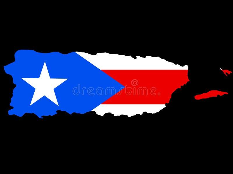 χαρτογραφήστε το Πουέρτο Ρίκο απεικόνιση αποθεμάτων