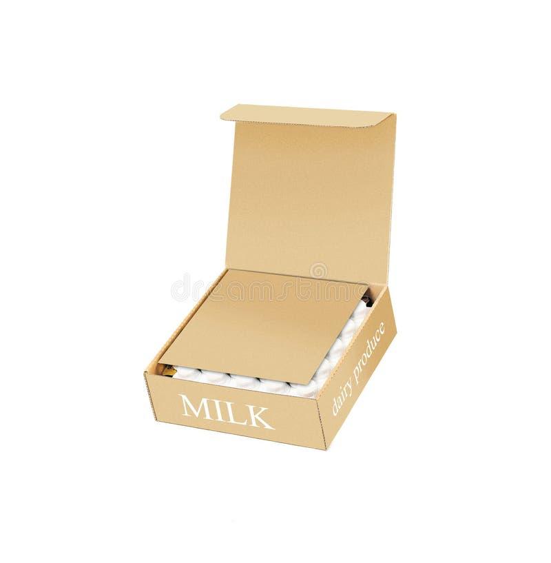 Χαρτοκιβώτια γάλακτος που απομονώνονται στο λευκό στοκ εικόνα με δικαίωμα ελεύθερης χρήσης
