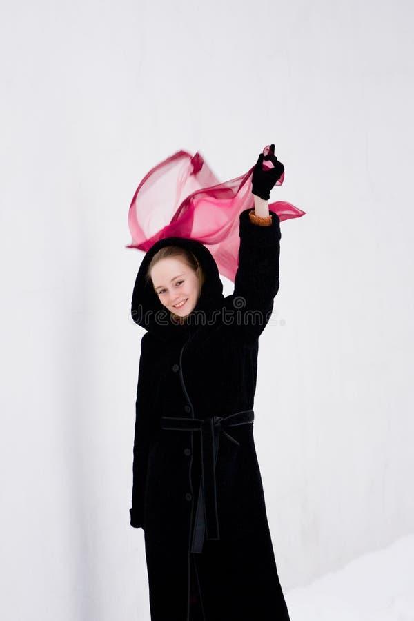 χαρτομάνδηλο κοριτσιών στοκ φωτογραφία με δικαίωμα ελεύθερης χρήσης