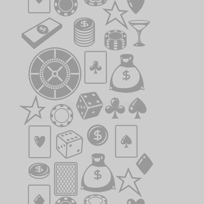 Χαρτοπαικτική λέσχη που παίζει το άνευ ραφής σχέδιο με τα αντικείμενα παιχνιδιών ελεύθερη απεικόνιση δικαιώματος