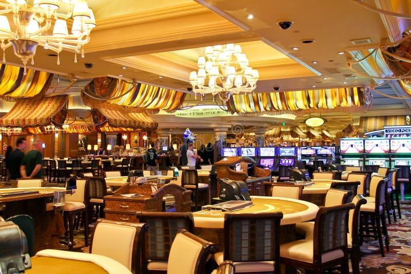 Χαρτοπαικτική λέσχη στο ξενοδοχείο του Μπελάτζιο στο Λας Βέγκας στοκ εικόνες