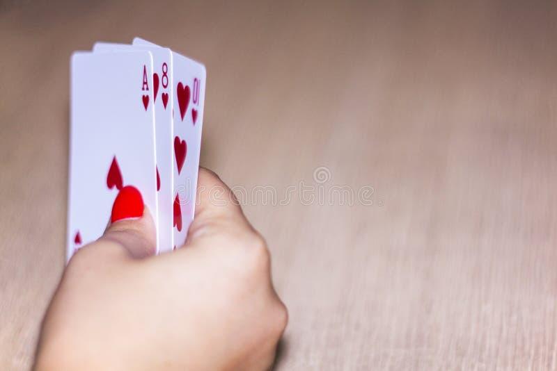 Χαρτοπαικτική λέσχη 2 πόκερ στοκ φωτογραφία