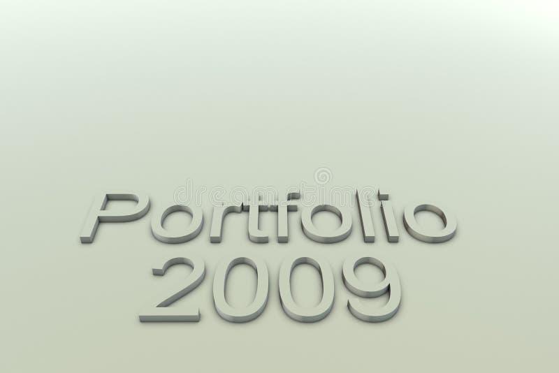 χαρτοφυλάκιο του 2009 ελεύθερη απεικόνιση δικαιώματος