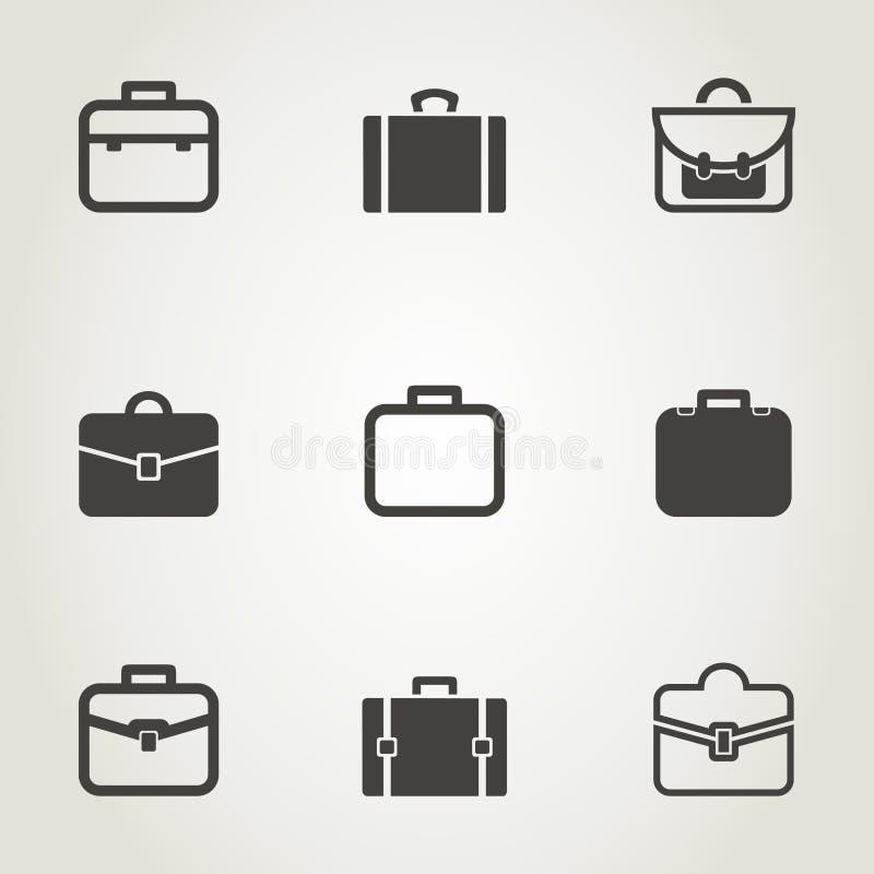 Χαρτοφυλάκιο ένα εικονίδιο απεικόνιση αποθεμάτων