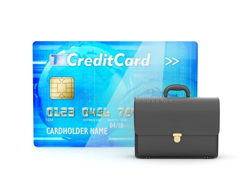 Χαρτοφύλακας δέρματος και πιστωτική κάρτα απεικόνιση αποθεμάτων