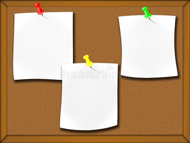 χαρτόνι ανακοινώσεων διανυσματική απεικόνιση