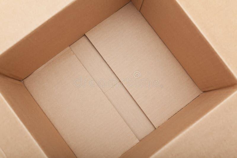 χαρτόνι κιβωτίων κενό στοκ εικόνα με δικαίωμα ελεύθερης χρήσης