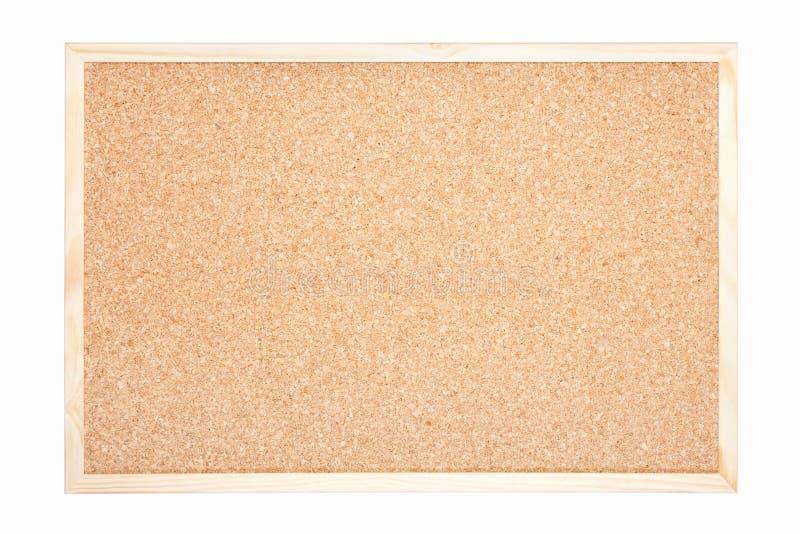 Χαρτόνι φελλού με το ξύλινο πλαίσιο στοκ εικόνες
