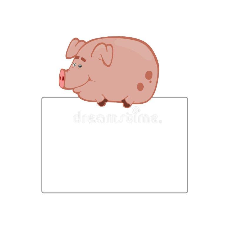 χαρτόνι cartoonish piggy απεικόνιση αποθεμάτων