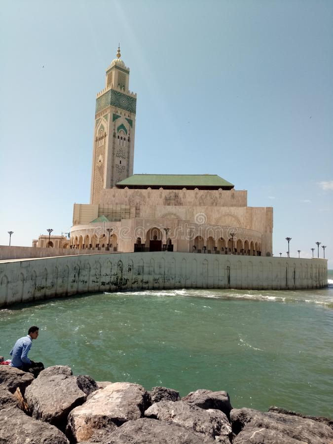 Χασάν ΙΙ μουσουλμανικό τέμενος στοκ φωτογραφία με δικαίωμα ελεύθερης χρήσης