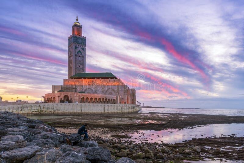 Χασάν ΙΙ μουσουλμανικό τέμενος, Καζαμπλάνκα στοκ εικόνες με δικαίωμα ελεύθερης χρήσης