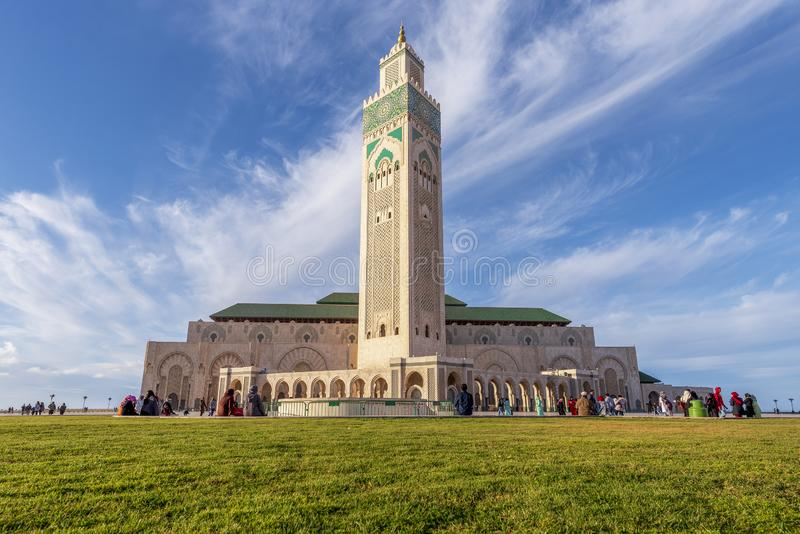 Χασάν ΙΙ μουσουλμανικό τέμενος, Καζαμπλάνκα στοκ φωτογραφίες