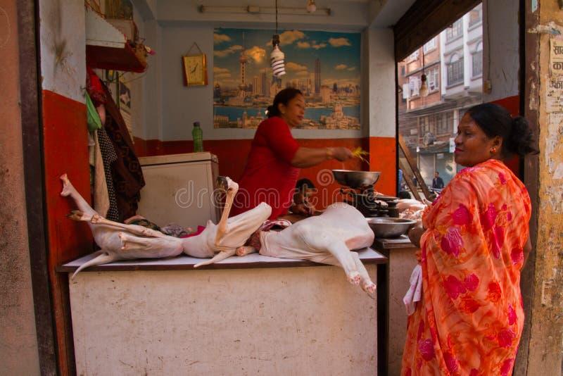 Χασάπης αιγών της πλατείας Durbar, Κατμαντού, Νεπάλ στοκ φωτογραφίες με δικαίωμα ελεύθερης χρήσης