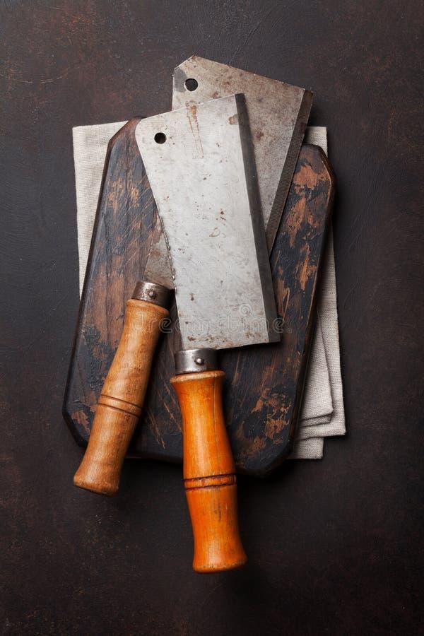 χασάπης Εκλεκτής ποιότητας μαχαίρια κρέατος στοκ εικόνες