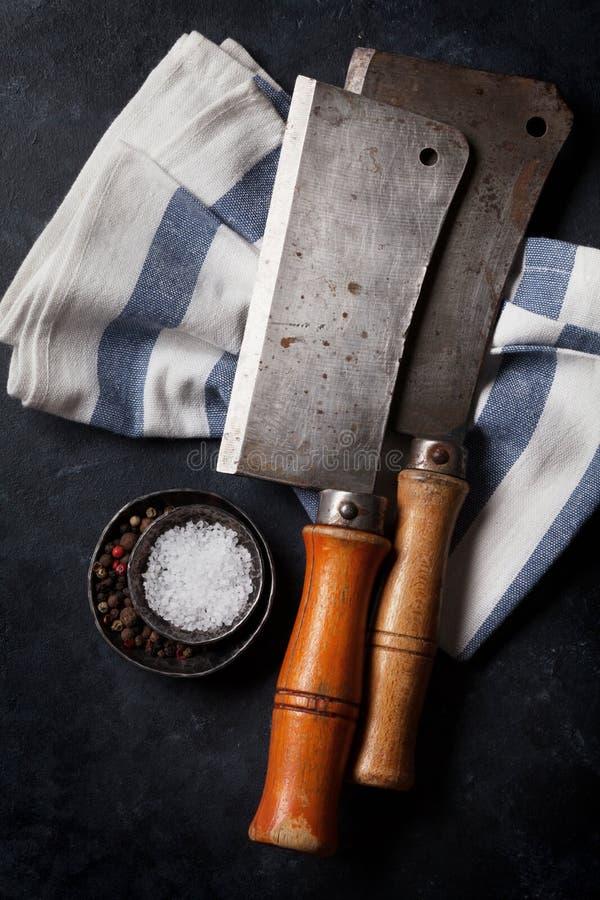χασάπης Εκλεκτής ποιότητας μαχαίρια κρέατος στοκ φωτογραφία με δικαίωμα ελεύθερης χρήσης