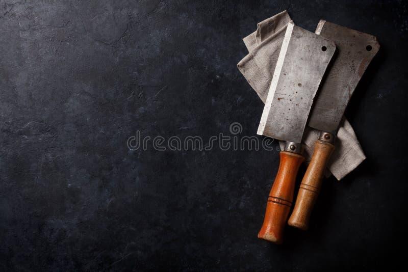 χασάπης Εκλεκτής ποιότητας μαχαίρια κρέατος στοκ φωτογραφία