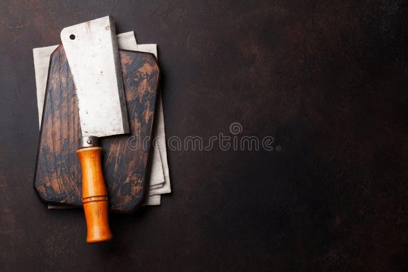 χασάπης Εκλεκτής ποιότητας μαχαίρι κρέατος στοκ εικόνα