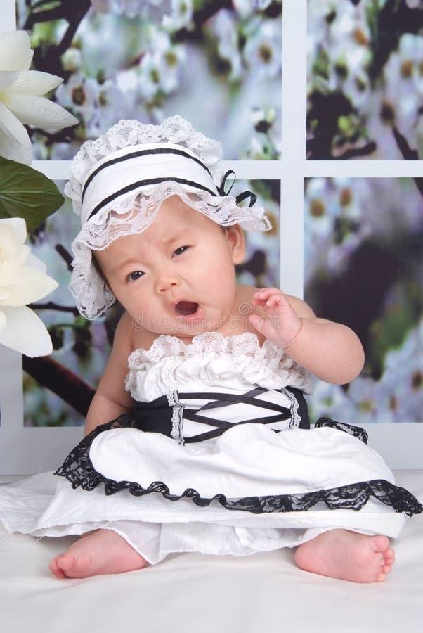 χασμουρητό μωρών στοκ φωτογραφίες