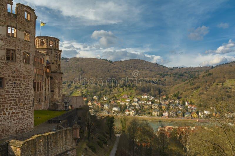 Χαϋδελβέργη Castle, baden-Wurttemberg, Γερμανία στοκ φωτογραφία με δικαίωμα ελεύθερης χρήσης