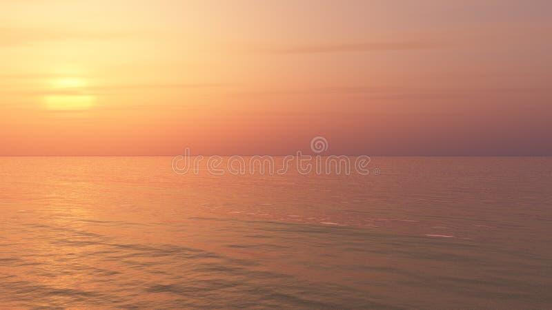 Χαλαρώνοντας υπόβαθρο ηλιοβασιλέματος απεικόνιση αποθεμάτων