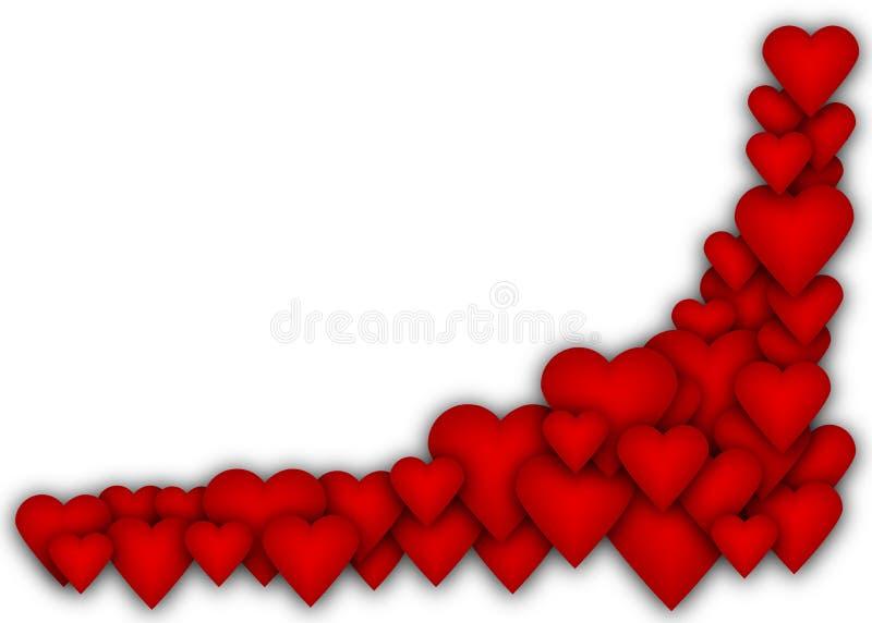 Χαλαρώστε πολλές καρδιές με την κενή θέση στοκ εικόνες