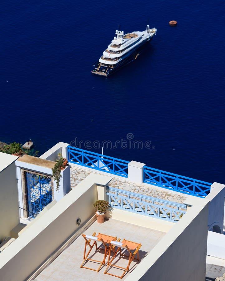 Χαλαρώστε στο νησί Santorini, Ελλάδα Στοκ Εικόνα