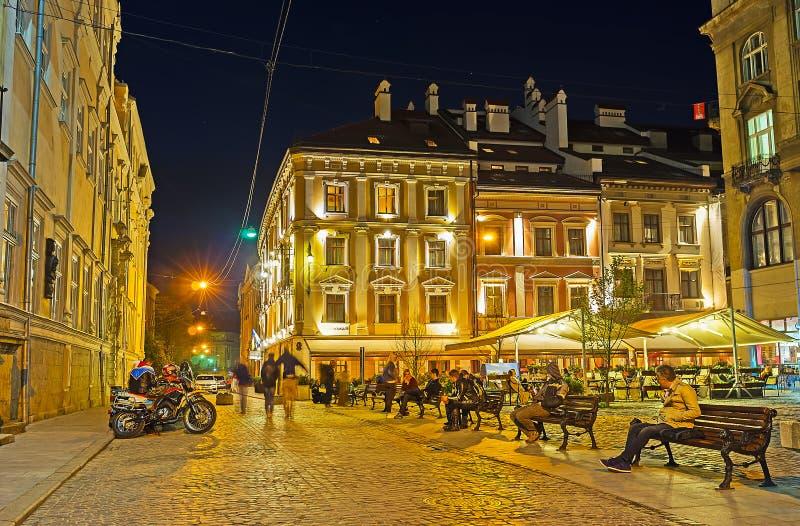 Χαλαρώστε το βράδυ Lvov στοκ εικόνα