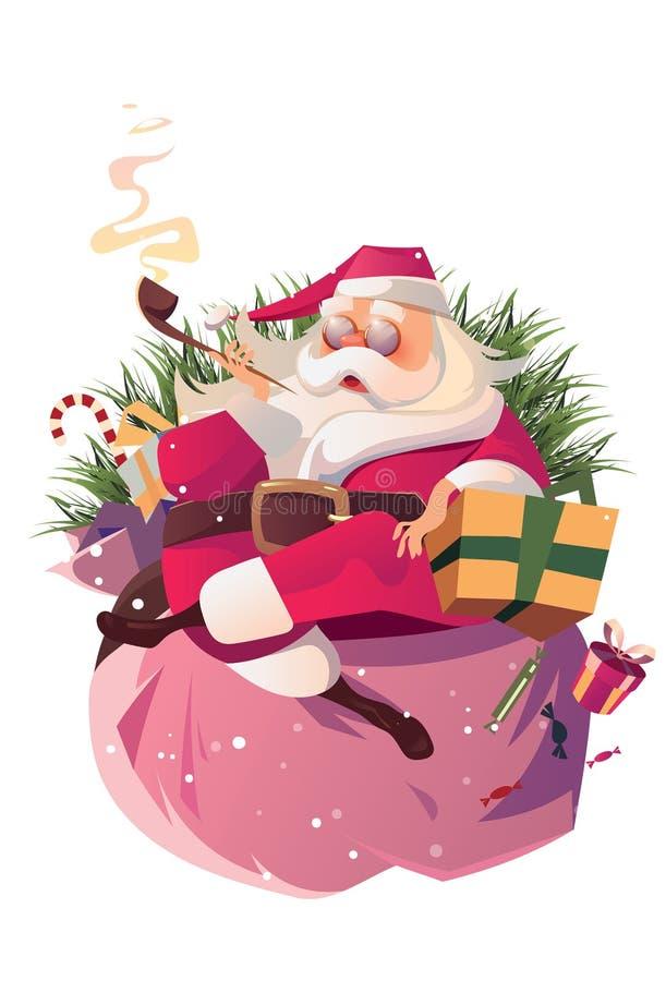 χαλαρώστε το santa στοκ εικόνες