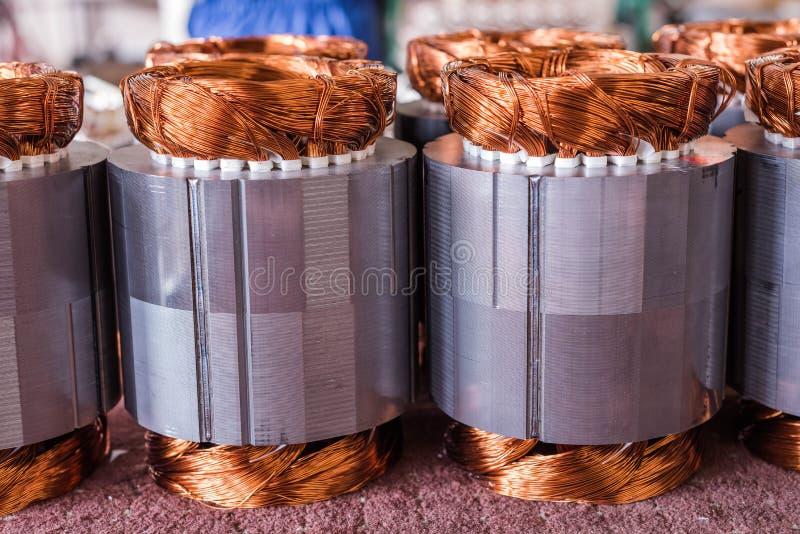Χαλκός ηλεκτρικών κινητήρων στοκ φωτογραφία με δικαίωμα ελεύθερης χρήσης