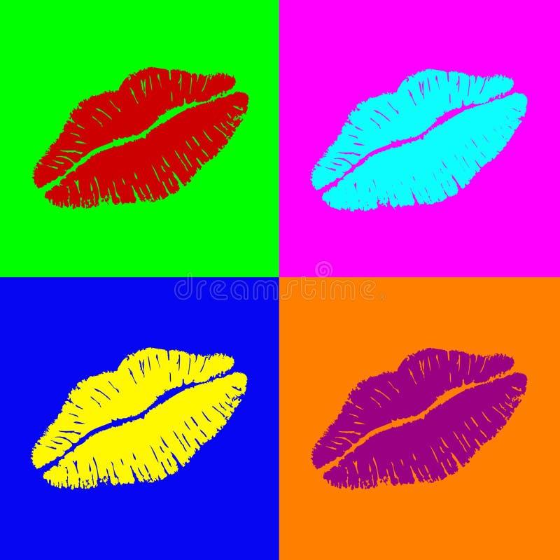 Χείλια Warhol διανυσματική απεικόνιση