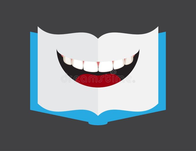 Χείλια μορφής βιβλίων ελεύθερη απεικόνιση δικαιώματος