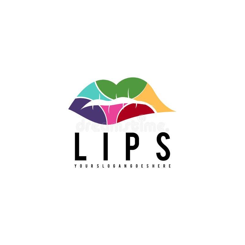 Χειλικό λογότυπο Πρότυπο λογότυπων για την επιχείρησή σας απεικόνιση αποθεμάτων
