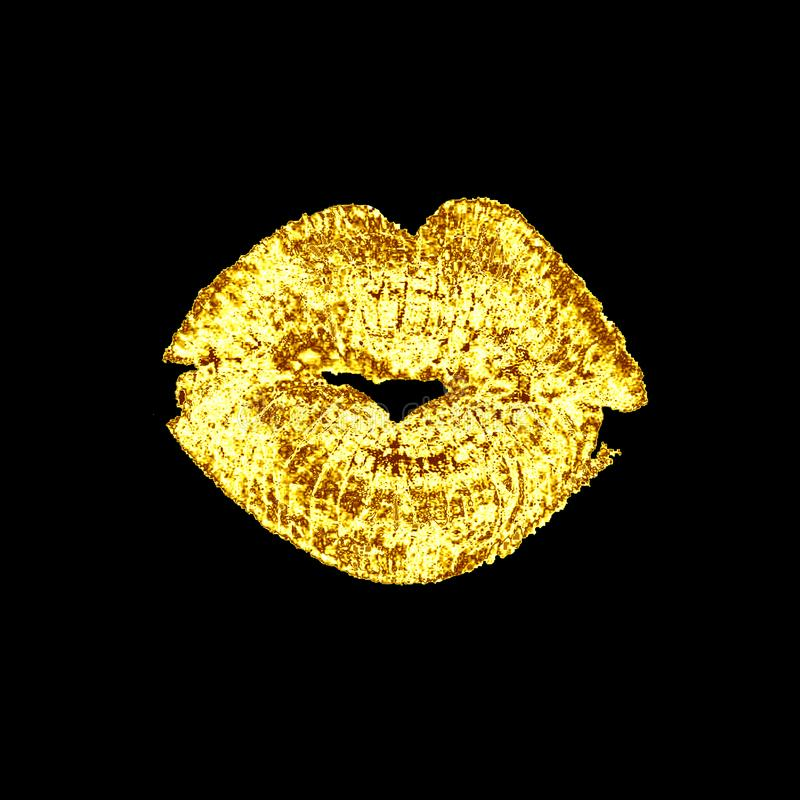 Χειλικό φιλί, που απομονώνεται στο άσπρο υπόβαθρο απεικόνιση αποθεμάτων