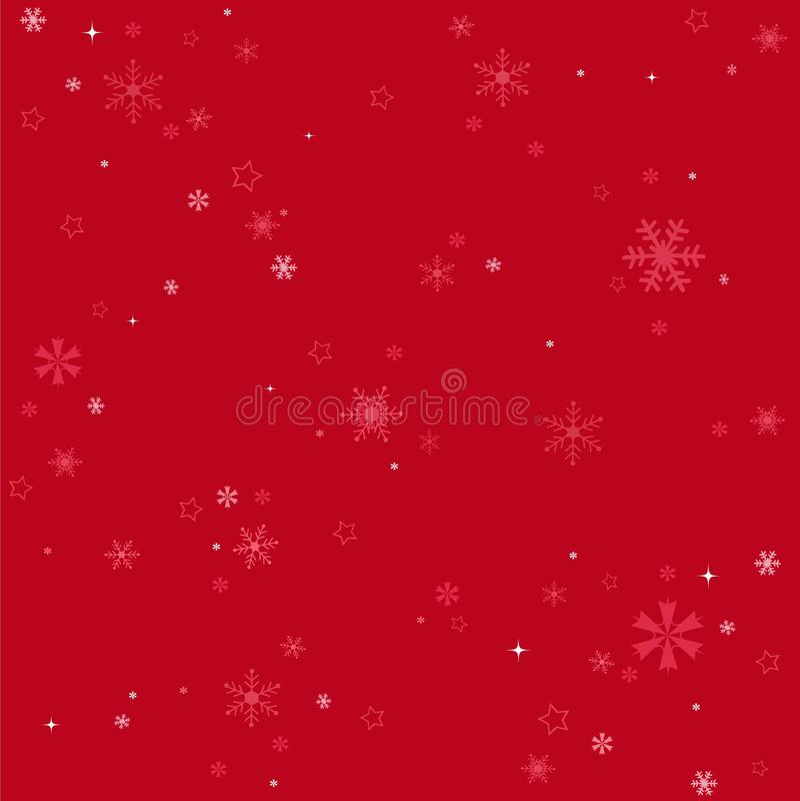 Χειμερινά snowflakes κόκκινο υπόβαθρο απεικόνιση αποθεμάτων