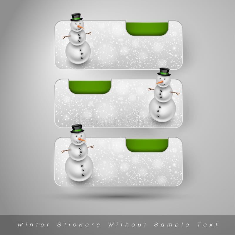 Download Χειμερινές αυτοκόλλητες ετικέττες με το χιονάνθρωπο το σχέδιο εύκολο επιμελείται τα στοιχεία στο διάνυσμα Διανυσματική απεικόνιση - εικονογραφία από αποχής, νιφάδες: 62724002