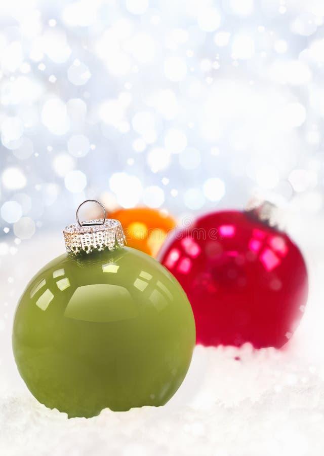Χειμερινές διακοσμήσεις Χριστουγέννων στοκ εικόνες