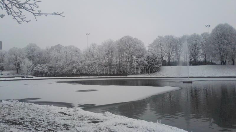 Χειμερινή λίμνη Γαλλία στοκ εικόνα
