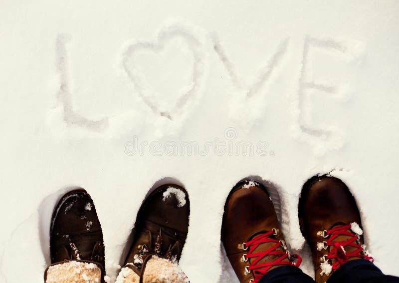 Χειμερινή αγάπη στοκ εικόνες