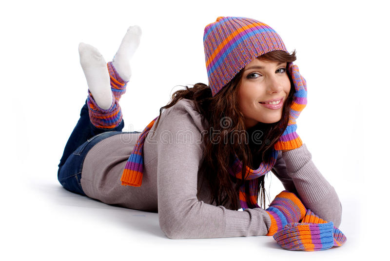 χειμερινή γυναίκα μόδας στοκ εικόνα