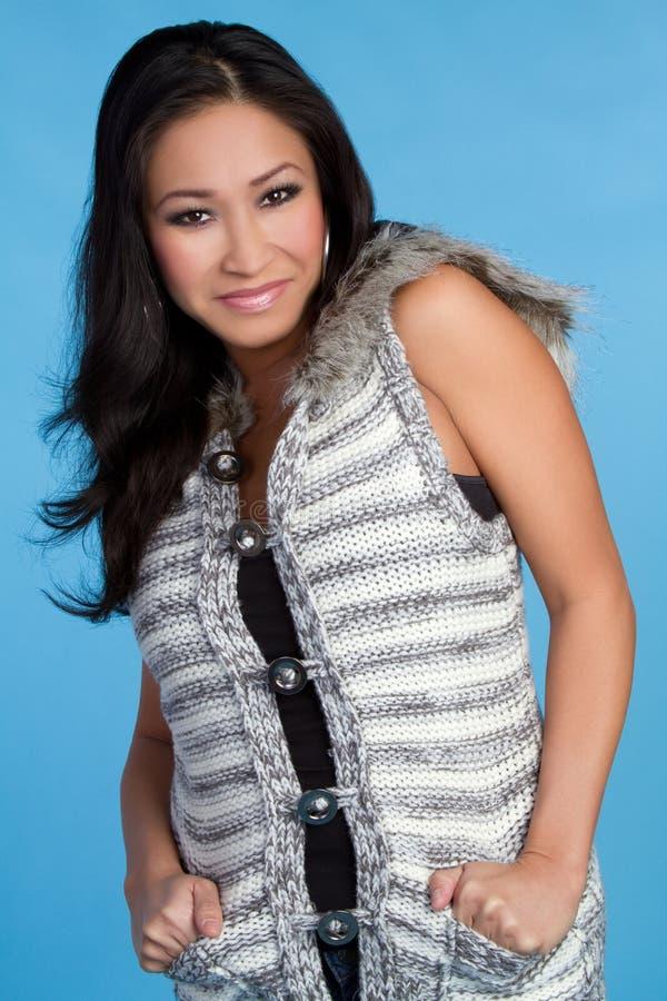 χειμερινή γυναίκα μόδας στοκ φωτογραφίες
