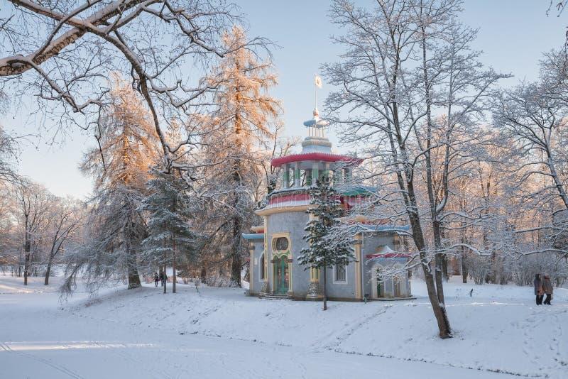Χειμερινή ημέρα στο πάρκο της Catherine στοκ φωτογραφία με δικαίωμα ελεύθερης χρήσης